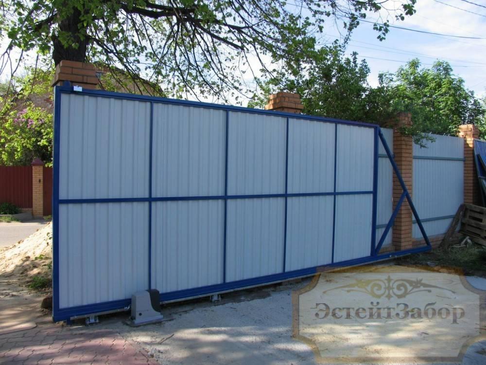 Автоматические откатные ворота с электроприводом ворота метали